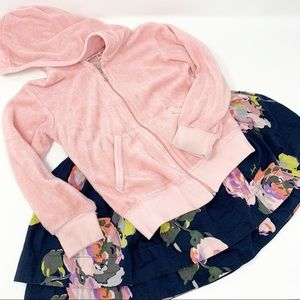 Juicy Couture velour top and floral skirt